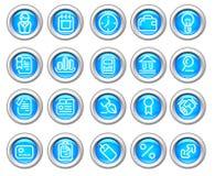 Silvero glatte Ikone eingestellt: Geschäft und Finanzierung Lizenzfreie Stockbilder