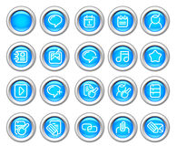 Silvero glossy icon set: Internet and Blogging Stock Images