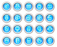 Silvero glossy icon set: Media stock images