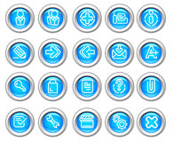 Silvero glossy icon set: Website and Internet #2 Stock Images