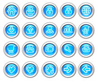Silvero glossy icon set: Website and Internet Royalty Free Stock Image
