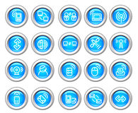 Silvero glossy icon set: Wireless Device royalty free stock images