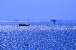 Silversea-Ansicht stockbild