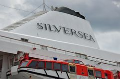 Silversea cruise ship fullel Stock Photos