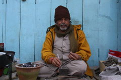 Silversmith in Ooty Royalty Free Stock Photography