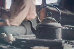 At silversmith`s workshop Stock Images