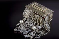 Silversmycken royaltyfria foton