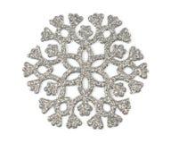 Silversnowflake Royaltyfri Bild