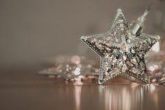 Silverstjärna lights2 Royaltyfri Foto