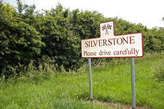 Silverstone sign. Next to speed sign royalty free stock images