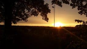 Silverstone solnedgång Fotografering för Bildbyråer