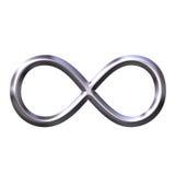 silversymbol för oändlighet 3d Fotografering för Bildbyråer