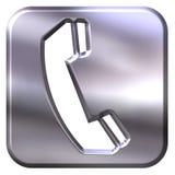 silvertelefon för tecken 3d Royaltyfri Bild