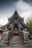 Silvertempel Chiang Mai på Wat Srisuphan Arkivbild