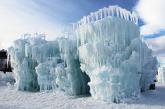 Silverthorne Ice Castles. The Silverthorne Ice Castles are a popular tourist attraction in Silverthorne, Colorado, USA. They are constructed entirely out of ice royalty free stock photography