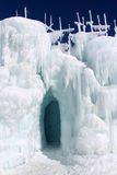 Silverthorne Ice Castles. The Silverthorne Ice Castles are a popular tourist attraction in Silverthorne, Colorado, USA. They are constructed entirely out of ice stock image