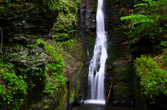 Silverthread Falls in the Fresh Green of Spring Royalty Free Stock Photos