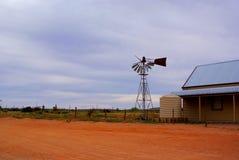 残破的silverton风车 免版税图库摄影