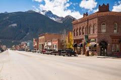 Downtown Silverton, Colorado. SILVERTON, CO - OCTOBER 5, 2018: Downtown of the historic mining town of Silverton, Colorado Royalty Free Stock Photo