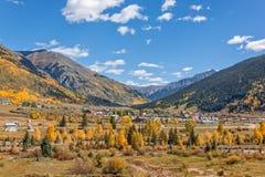 Silverton Colorado in Autumn. A scenic landscape of colorful silverton colorado in fall Stock Photography