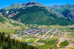 Silverton Colorado di estate con paesaggio verde Immagine Stock Libera da Diritti