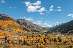 Silverton Colorado en caída foto de archivo