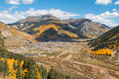 Silverton Colorado Landscape in Fall Royalty Free Stock Photography