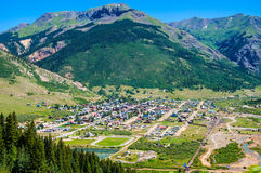 Silverton Colorado in Summer with Green Scenery Royalty Free Stock Image