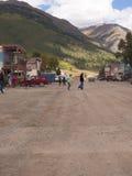 Silverton eine alte silberne Bergbaustadt im Staat Colorado USA Stockfotografie