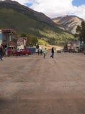 Silverton ist eine alte silberne Bergbaustadt im Staat Colorado USA Lizenzfreies Stockbild