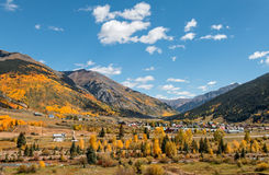 Silverton le Colorado dans l'automne Photo stock