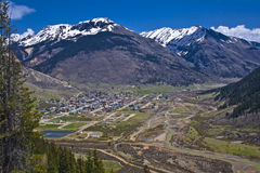 Silverton overlook. The town of Silverton in south west Colorado, in the heart of Colorado's mighty San Juan Mountains Royalty Free Stock Photo