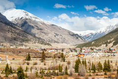 Silverton panorama, Colorado, USA Arkivfoto