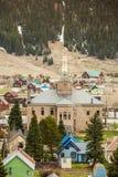 Silverton Panorama, Colorado, USA. Panorama of mountainous Silverton located in Colorado mountains Stock Images