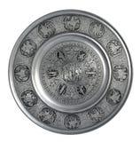 Silverväggplatta Adam och helgdagsafton Royaltyfri Bild