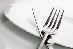 silverware плиты ножа вилки обеда стоковые фото