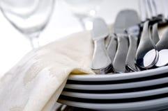 silverware плиты стоковое изображение
