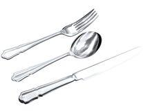 silverware чертежа Стоковые Изображения RF
