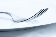 Silverware - closeup of a fork Royalty Free Stock Images