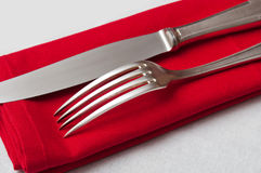 Silverware closeup Royalty Free Stock Photo