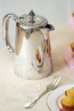 Silverware coffee pot stock photography