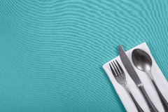 Silverware with copy space Stock Image