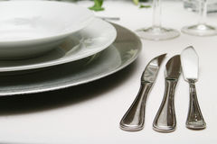 Silverware and crockery stock photography