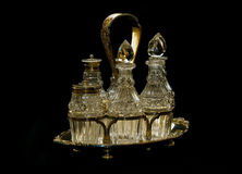 Silverware cruet set Stock Image