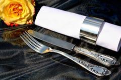 silverware cutlery установленный Стоковая Фотография RF