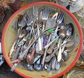 Silverware cutlery Obraz Royalty Free