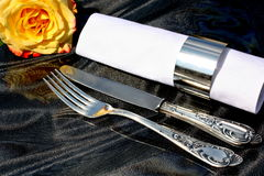 Silverware cutlery set Royalty Free Stock Photography
