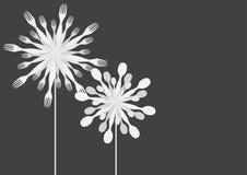 Silverware dandelion Royalty Free Stock Photography