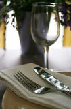 Silverware on the dinner table Stock Photography