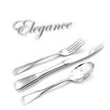Silverware Elegance Stock Photo
